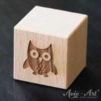 Holzwürfel Motiv Eule graviert