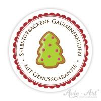 Weihnachtsaufkleber mit Tannenbaum