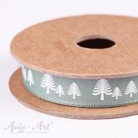 Webband festive forest - grün