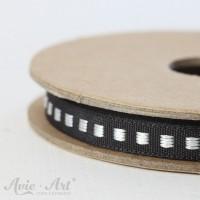 Webband Box Stitch - schwarz