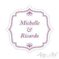 Hochzeitsaufkleber Namen Label - Barock II