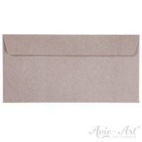 25 Briefumschläge Naturpapier grau - DIN Lang (110 x 220 mm)