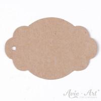 Papieranhänger label braun 45 x 65 mm mit glattem Rand