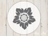 kleiner Motivstempel mit Sonnenblume - Blumenmotiv