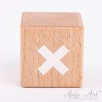 Holzwürfel mit einem Schweizer Kreuz handbemalt