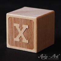 Holzwürfel garviert Buchstabe X