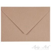 25 Briefumschläge Naturpapier braun - DIN B6 (125 x 176 mm)