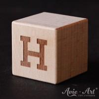 Buchstabenwürfel - H - positiv
