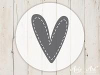 kleiner Motivstempel mit Herz - Herzmotiv