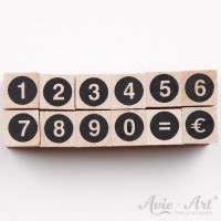kleines Stempelset Zahlenstempel #2