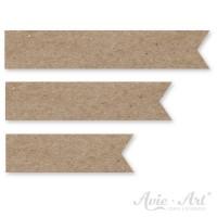 Papierfähnchen aus Naturpapier in 3 Größen
