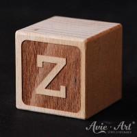 Buchstabenwürfel graviert Holz Buchstabe Z