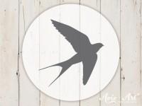 kleiner Motivstempel mit Schwalbe - Vogelmotiv