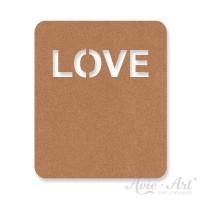Label SnapPap Text LOVE - hellbraun