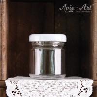 Marmeladenglas mit Deckel, rund - 50 ml