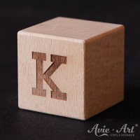 Holzwürfel Buchstabe K