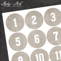 Adventskalender Zahlen Leinen #3