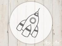 kleiner Motivstempel mit Rakete - Kindermotiv