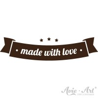 Motivstempel Banner - made with love