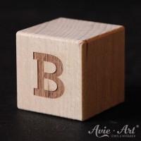 Holzwürfel Buchstabe B