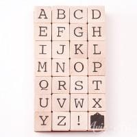 Holzstempel Alphabet - Großbuchstaben
