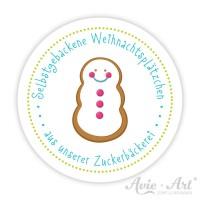 Weihnachtsaufkleber mit Schneemann