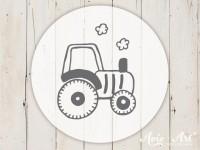 kleiner Motivstempel mit Traktor - Kindermotiv