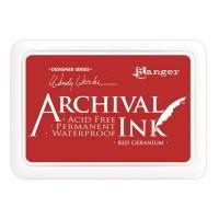 Archival Ink wasserfestes Stempelkissen - red geranium