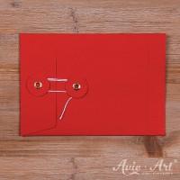 10 Briefumschläge Kordel rot - 114 x 162 mm (DIN C6)