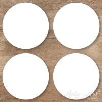 Naturpapier - Aufkleber rund 50 mm - weiß (1 Bogen)