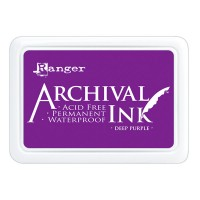 Archival Ink wasserfestes Stempelkissen - deep purple