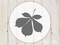kleiner Motivstempel mit Kastanienblatt - Blattmotiv