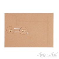 Briefumschläge mit Kordel, natur - 114 x 162 mm (C6)