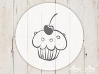 kleiner Motivstempel mit Muffin - Küchenmotiv