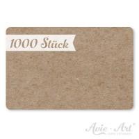 1000 Vistenkarten aus Naturpapier - 55 x 85 mm