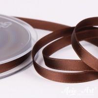 Satinband braun - 6mm für Dekoration und Geschenke