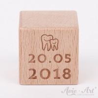 Geschenk zur Geburt - Datumswürfel erster Zahn