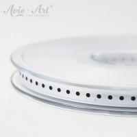 weißen Satinband 6 mm mit schwarzen Punkten