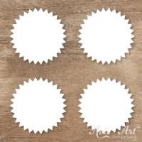 Naturpapier - Aufkleber Zickzack 45 mm - weiß (1 Bogen)