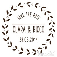 personalisierter Stempel save the date - Ranke