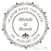 personalisierter Stempel save the date - Barock