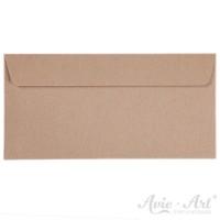 25 Briefumschläge Naturpapier - DIN Lang (110 x 220 mm)