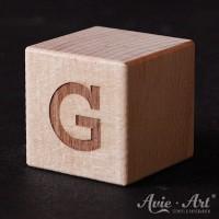 Holzwürfel Buchstabe G