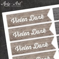 Motivaufkleber - wood Danke