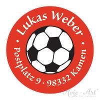 Adressaufkleber für Kinder Fußball