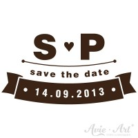 personalisierter Stempel save the date - Banner