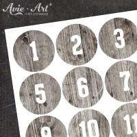 Adventskalender Zahlen Holz #2