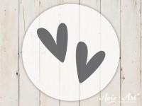 kleiner Motivstempel mit Herzminis - Herzmotiv