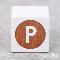 weißer Buchstabenwürfel - Buchstabe P