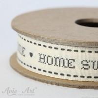 Webband Home Sweet Home - schwarz